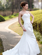 Trumpet/Mermaid Sweetheart Court Train Taffeta Wedding Dress With Ruffle (002000490)