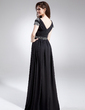 A-Line/Princess Sweetheart Floor-Length Chiffon Prom Dress With Sequins (008015882)