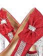 Women's Leatherette Sparkling Glitter Stiletto Heel Pumps With Rhinestone Sparkling Glitter shoes (085026580)