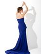 Denizkızı Kalp Kesimli Kısa Kuyruk Şifon Şarmöz Gece Elbisesi Ile Büzgü (017006701)