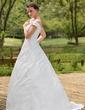 Balklänning Off-shoulder Ringning Sweep släp Taft Bröllopsklänning med Rufsar Pärlbrodering Rosett/-er (002001435)