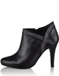 Leatherette Stiletto Heel Ankle Boots With Zipper shoes (088033709)