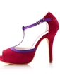Women's Suede Stiletto Heel Peep Toe Sandals (047039770)
