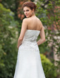 A-Line/Princess Sweetheart Cathedral Train Organza Wedding Dress With Ruffle Lace Beading Bow(s) (002001295)