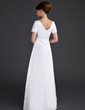 A-Line/Princess V-neck Floor-Length Satin Maternity Bridesmaid Dress With Ruffle Lace (045004413)