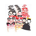 Photo Booth Props Card Paper (50 Pieces) Funny Mask Photo Booth Props Wedding Decorations