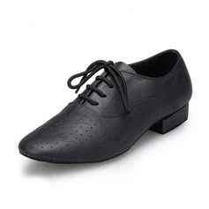 Men's Real Leather Flats Latin Dance Shoes