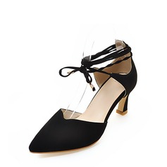 Women's Stiletto Heel Sandals Pumps Closed Toe With Lace-up shoes