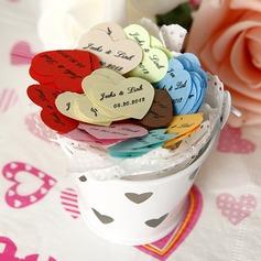 personnalisé En forme de coeur Petit pétals de confetti papier (Lot de 350 pièces)