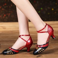 Women's Leatherette Heels Modern Dance Shoes
