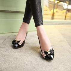 Femmes Similicuir Talon bottier Escarpins Bout fermé avec Bowknot chaussures