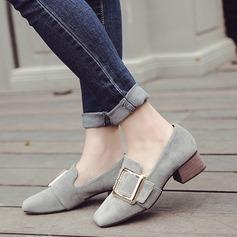 Femmes Suède Talon bas Chaussures plates avec Boucle chaussures