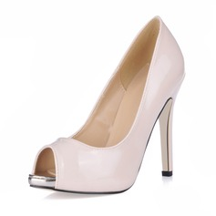 Vrouwen Patent Leather Stiletto Heel Peep Toe Plateau Sandalen