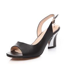 Vera pelle Tacco spesso Sandalo Con cinturino scarpe