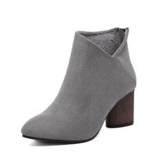 Dámské Semiš Široký podpatek Kotníkové boty obuv