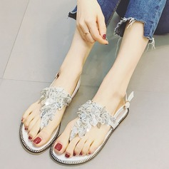 Frauen Kunstleder Flascher Absatz Peep Toe Sandalen Slingpumps Beach Wedding Shoes mit Strass