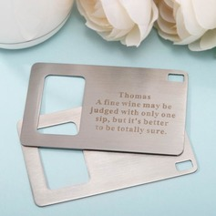 Personalized Simple Zinc Alloy Bottle Opener (Set of 4)