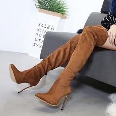 Women's Suede Stiletto Heel Pumps Boots Over The Knee Boots With Others shoes