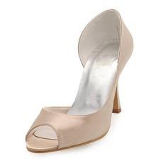 Satén Jehlový podpatek Volná špička Sandály Svatební obuv