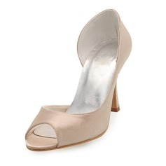 Vrouwen Satijn Stiletto Heel Peep Toe Sandalen