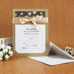 Classic Style Flache Karte Invitation Cards mit Bänder (Satz Von 50)