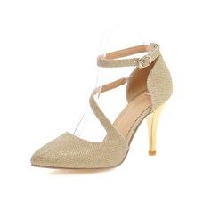 Women's Leatherette Stiletto Heel Pumps Closed Toe shoes