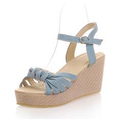 Panno Zeppe Sandalo Con cinturino scarpe