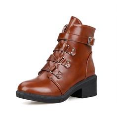 Dámské Koženka Široký podpatek Kotníkové boty obuv