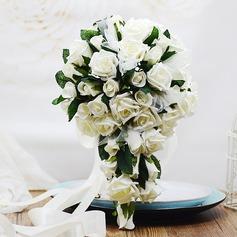 Elegant Cascade Foam/Poly Ethylene Bridal Bouquets