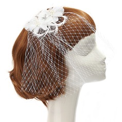 Charming Artificial Silk/Feather/Net Fascinators