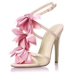 Konstläder Stilettklack Sandaler Slingbacks med Satäng Blomma skor