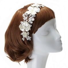 Glamourous Imitation Pearls/Lace Headbands