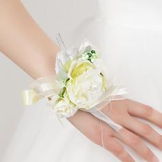Pretty Free-Form Satin Wrist Corsage