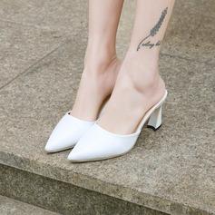 Femmes PU Talon stiletto Escarpins Bout fermé Escarpins Chaussons chaussures