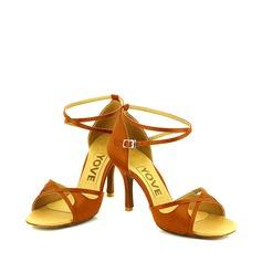 De mujer Satén Tacones Sandalias Salón Danza latina Zapatos de danza