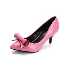 Koženka Jehlový podpatek Lodičky Closed Toe S Bowknot obuv