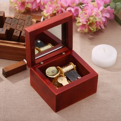 Non-personalized Classic Alloy Wooden Music Box