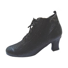 Women's Leatherette Heels Pumps Ballroom Swing Dance Shoes