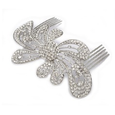 Beautiful Rhinestone Alloy Hair Combs Headpiece