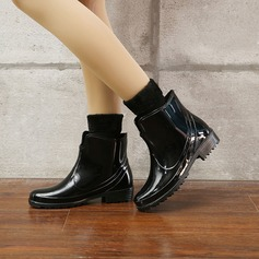 Women's PVC Low Heel Boots Rain Boots With Others shoes