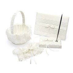 Elegant Kollektion Set in Satin/Spitze