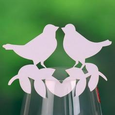 Amore uccello Perla Carta Segnaposti (Set di 12)