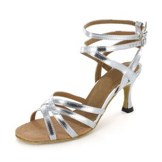 Women's Patent Leather Heels Sandals Latin Salsa Dance Shoes