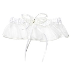 Pure Satin With Rhinestone Wedding Garters