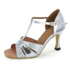 Dámské Lakovaná kůže Na podpatku Sandály Latinské S Téčkový pásek Taneční boty