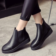 Women's PU Wedge Heel Boots Ankle Boots Martin Boots shoes