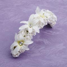 Satiini/Paperi Kukka tyttöjen päähine