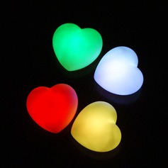 Color changing Heart Shaped LED Lights (Set of 4 in Assorted Colors)