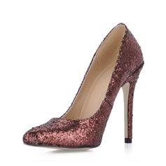 Šumivé Glitter Jehlový podpatek Lodičky Closed Toe obuv
