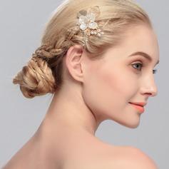 Elegant/Flower Shaped Rhinestone/Alloy/Imitation Pearls Combs & Barrettes (Sold in single piece)